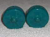 Wagon Wheels Millennium shakers glazed teal