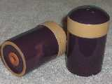 Colorworks table top shakers glazed plum